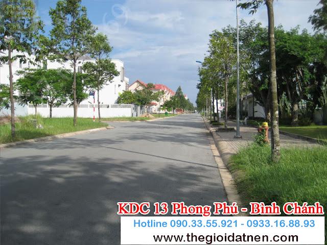 KDC 13   01 Bán gấp đất nền nhà phố KDC 13C, Bình Chánh giá 14.5 tr/m2