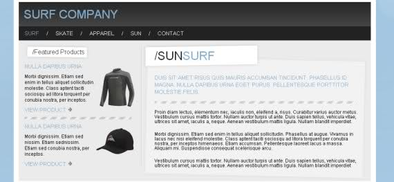 Free CSS Surf Company Blue Website Template