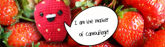 Amigurumi Strawberry free crochet pattern