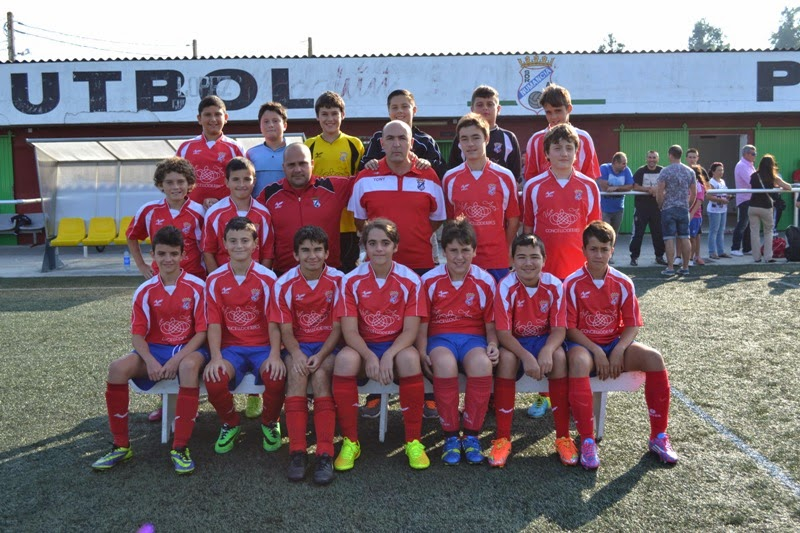 Equipo Infantil do Numancia de Ares - Temporada 2014-2015.