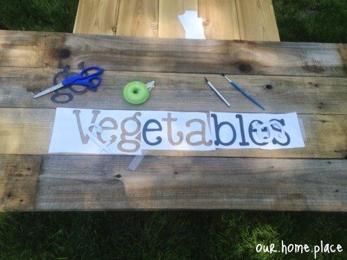 Stenciling Vegetable Garden