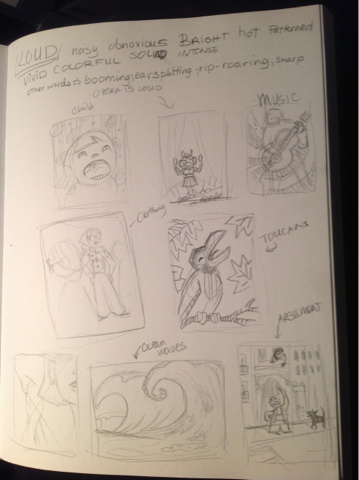Loud concept sketches - image 1 - student project