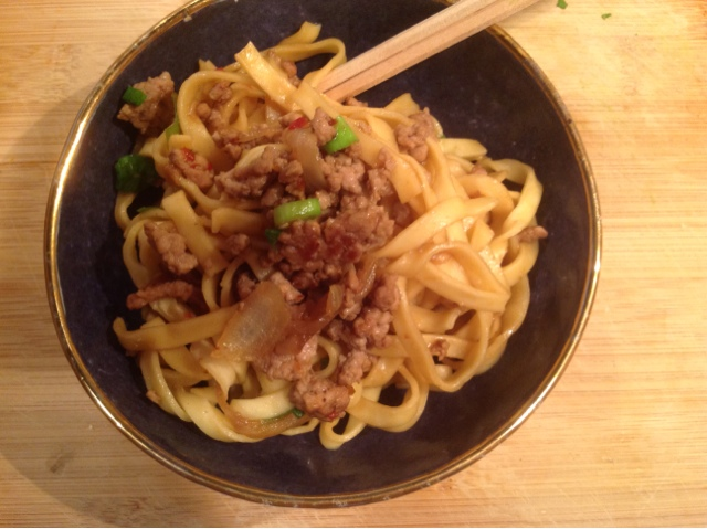 Home on my Range: Another Bowl of Noodles--Spicy Pork Noodles