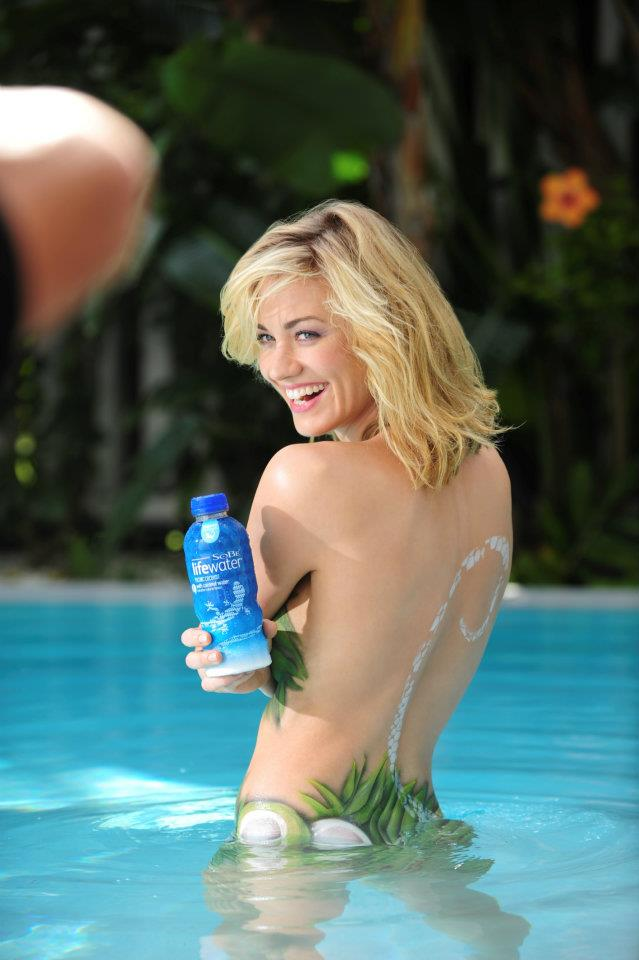 Yvonne Strahovski in SkinSuit for Sobe Life Water