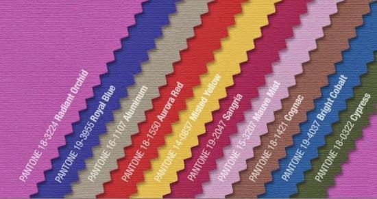 Pantone Fall 2014 Fashion Colors