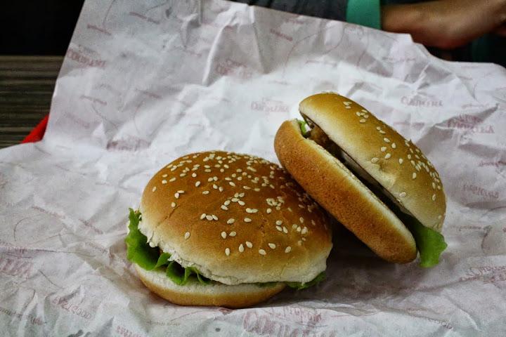 Chicken burgers, fast food, Irkutsk