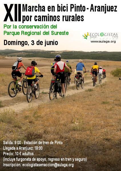 XII Marcha en bici Pinto-Aranjuez, domingo 3 de junio 2012