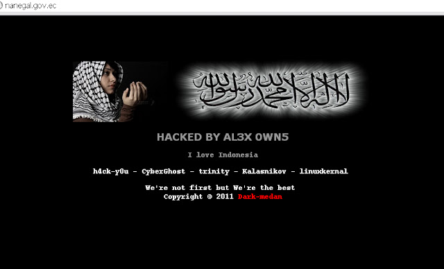 Republic of Ecuador two Govt sites Hacked by AL3X 0WN5 !