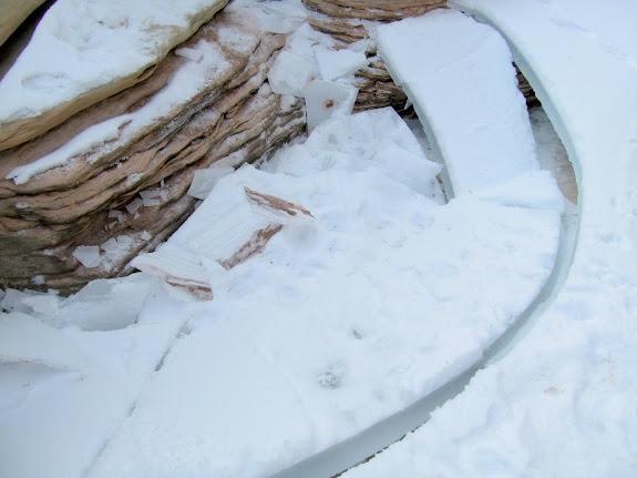 Pothole ice that I broke through