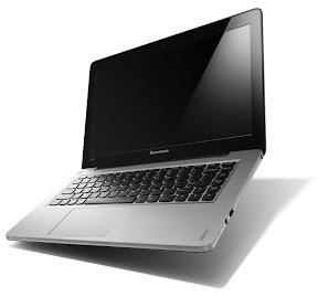 Lenovo IdeaPad U310 グラファイトグレー 開いた状態
