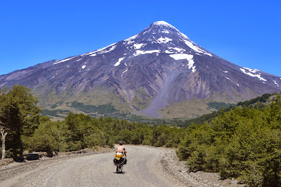 The border between argentina and chile cuts right over top this volcano.... we had the most incredible view of it!