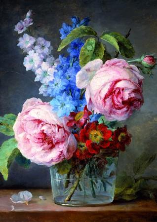 Anne Vallayer-Coster - Fleurs dans un vase de verre