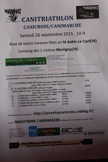 Canitriathlon du 26/09/2015