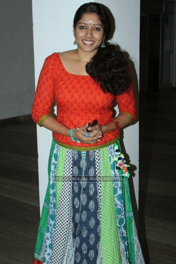 Anumol during the music launch of Rajeev Ravi's upcoming movie Njan Steve Lopez in the city.