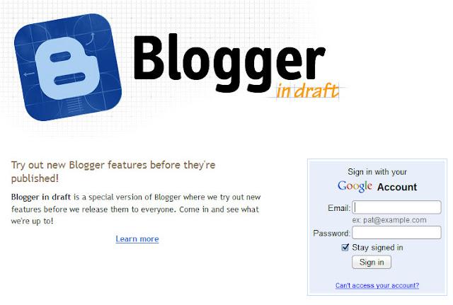Inilah tampilan baru dashboard Blogger yang cantik !