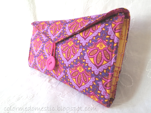DIY fabric wallet