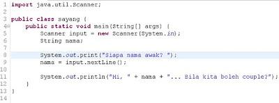 contoh penggunaan scanner