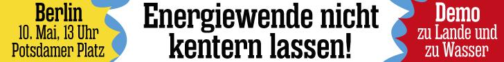 """Energiewende nicht kentern lassen!"""" title=""""Energiewende nicht kentern lassen!"""