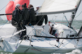 J/80 one-design sailboat- sailing Solent Warsash Spring series