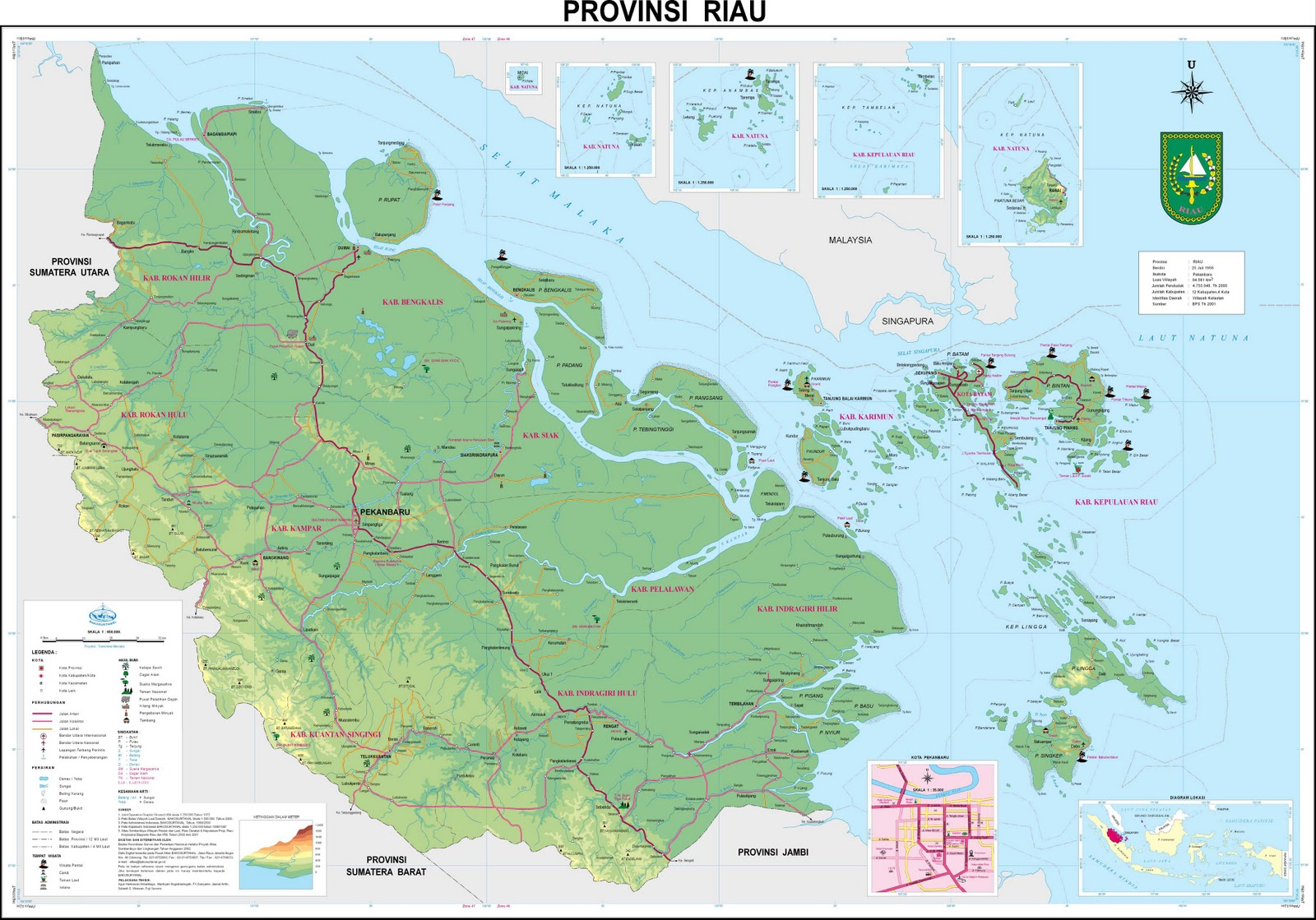 TAKJUB INDONESIA: PETA PROPINSI RIAU