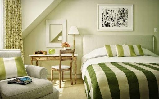 Thiết kế nội thất phòng ngủ với gam màu xanh tươi mát_CONG TY NOI THAT-9