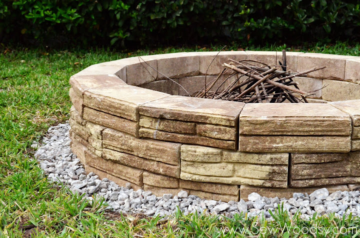 How To Build Outdoor Fire Pit Sew Woodsy Sew Woodsy