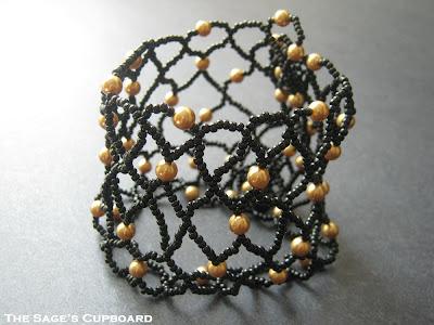 Black and Gold Egyptian Bracer