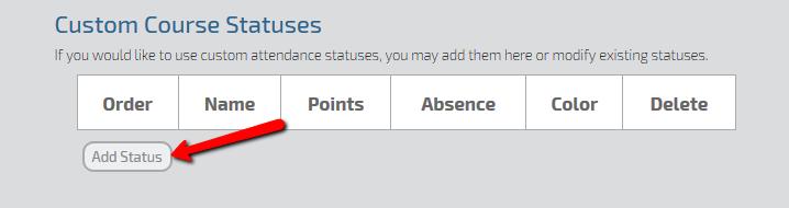 Qwickly Attendance Custom Statuses