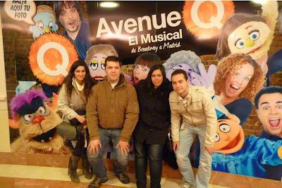 Avenue Q. El Musical (Madrid) - Sonia, Juanse, Estefi y yo