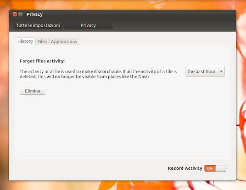 Ubuntu 12.04 privacy - history