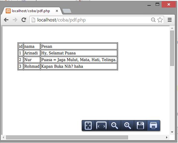 Hasil PHP MPDF
