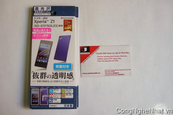 Dán 2 mặt Sony Xperia Z1 (SO-01F) chống xước kháng khuẩn
