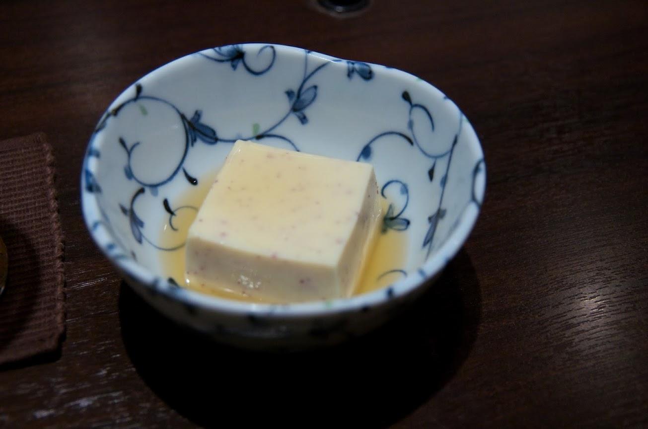牛蒡練り寄せ豆腐
