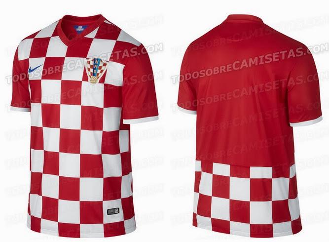 be06c32b3a8 Croatia 2014 World Cup Home Kit Leaked