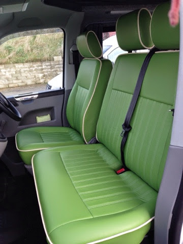 colin rouse auto trim cornwall t5 vw camper leather seats and rock and roll bed. Black Bedroom Furniture Sets. Home Design Ideas