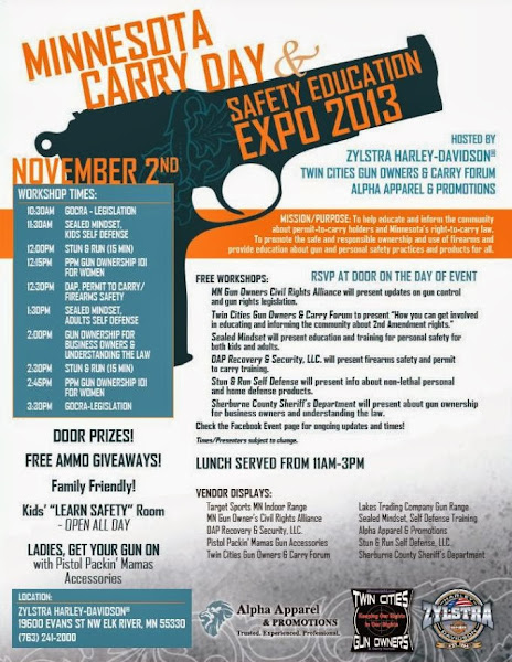 Minnesota Carry Day & Safety Education Expo 2013