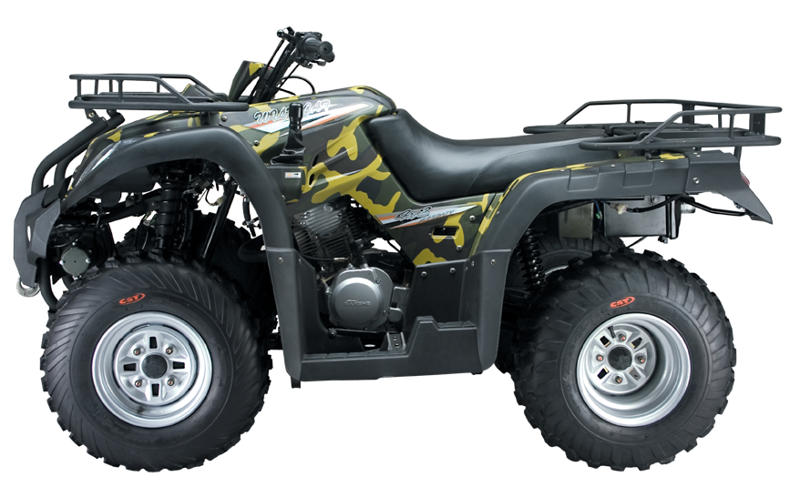 250cc Jianshe Yamaha JS250ATV-5 Shaft Drive 2WD Farm Quad Bike ATV Camo Green