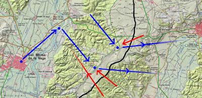 Mapa ataques y contraataques en el Pingarrón