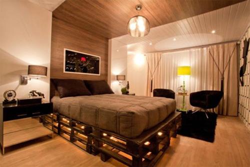 decoração - nova vida para pallets (cama)