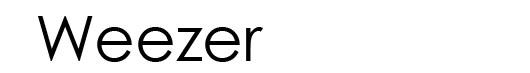 Century Gothic font logo Weezer