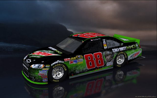 Dale Earnhardt Jr Mountain Dew COD MW3 Scenic Wallpaper