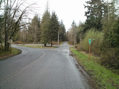 The turn on Tokul Rd