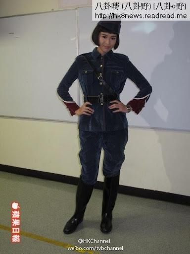 胡杏兒今日在將軍澳電視廣播城為《巾幗梟雄3(暫名)》試節目巡禮造型