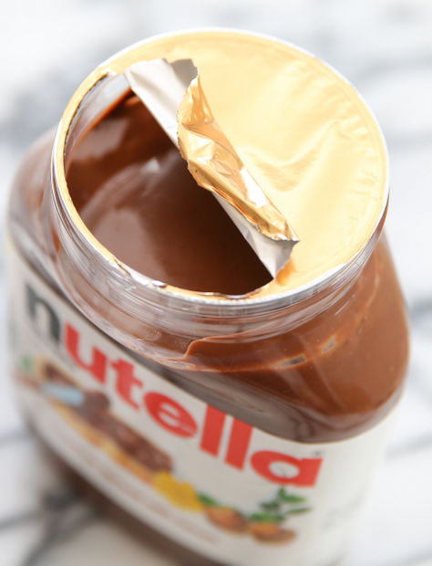 photo of a jar of nutella