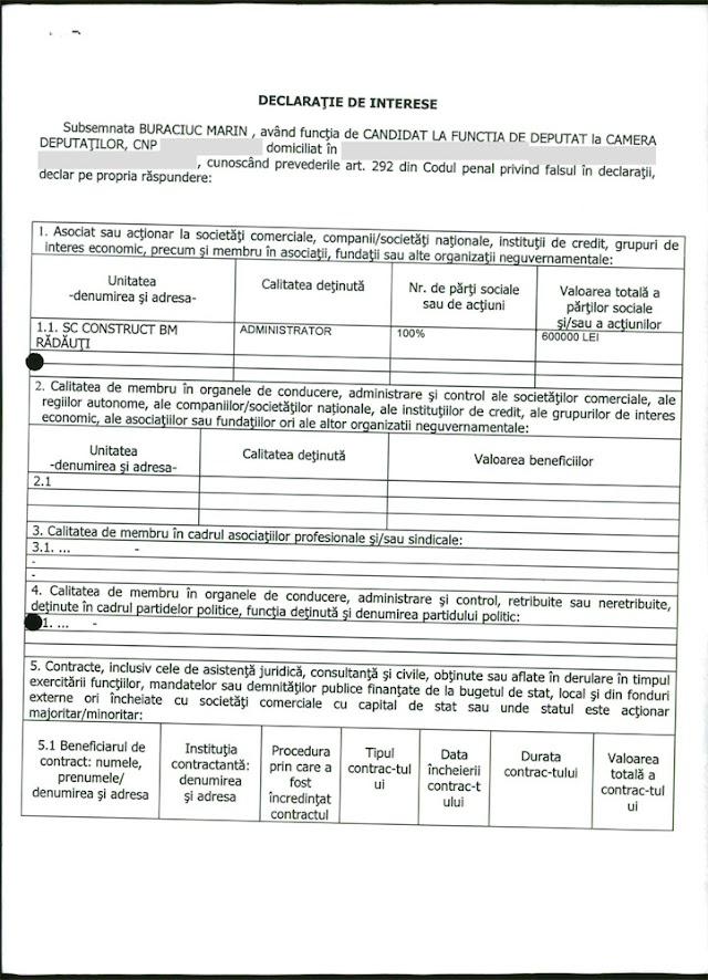 Onofrei, Galan, Buraciuc, Ohmt, Deak - Averile, firmele şi interesele candidaţilor din colegiul nr 6 Rădăuţi pentru Camera Deputaţilor