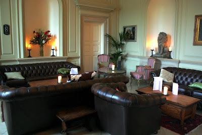 Interior of the Stanmer House restaurant near Brighton England