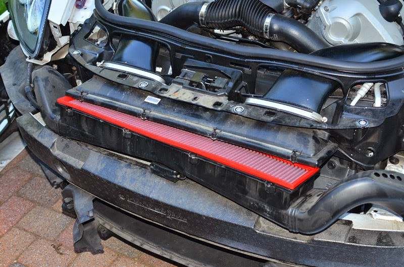 Rear Differential Fluid Change >> DIY on porsche Panamera Air Filter replacement /change ...