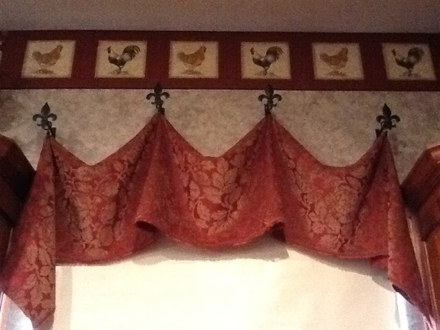 Dixie Of All Trades Window Valance Using Raw Fabric Ring