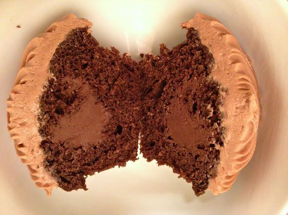 Irish Coffee Cupcakes with Bailey's Chocolate Filling