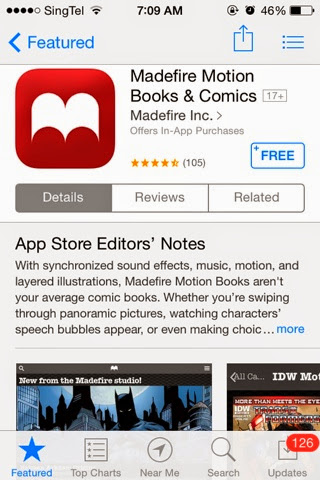 FREE IPHONE / IPAD / IOS APPS and GAMES Daily: Madefire Motion Books